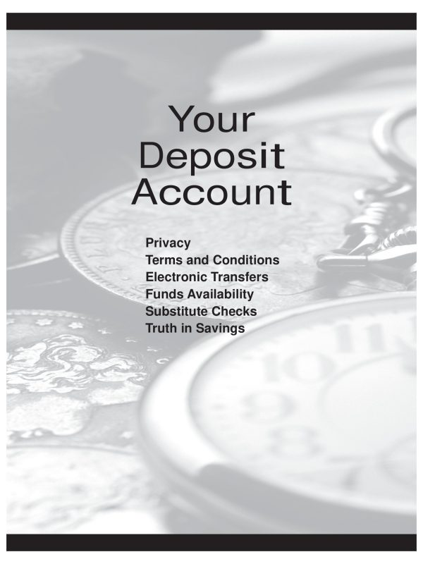 cover image of deposit account terms document